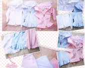 BJD SD 1/3 pastels Sweet lolita cardigan with ruffles (choose the color you want)