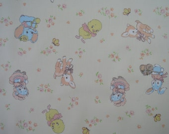 "Half Yard of Lecien Old New 30's Collection Retro Animals Fabric on Cream Background.  Approx 18"" x 44"" Made in Japan"