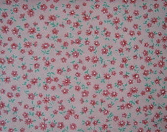 "Half Yard of Lecien Old New 30's Collection Fabric Tiny Floral on Pink Background.  Approx 18"" x 44"" Made in Japan"