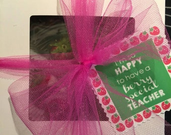 Berry Special Teacher Teacher Gift Tags Thank You Dipped Strawberries