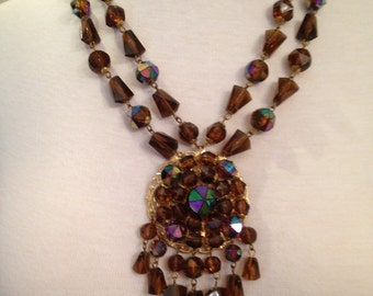 SALE! Western Germany1960's Necklace and Earring Set
