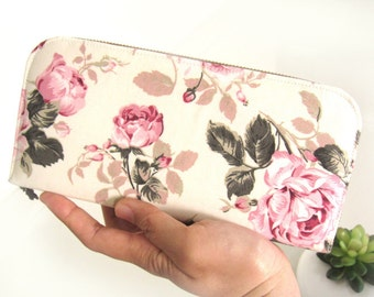 VEGAN WALLET, Womens Wallet in vintage style, Handmade Women's wallet from beautiful cotton fabric that packed with safety for your goodies