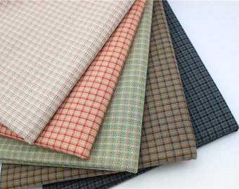 140cm / 55 inch Width, Dyed Plaid / Gingham / Check / Checker Jacquard Cotton Fabric, Half Yard