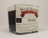 Wrath - Book Inspired Candle - Hand Poured, 10 oz soy blend container candle