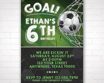 DIY Soccer Party Invitation