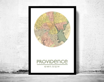PROVIDENCE - city poster - city map poster print