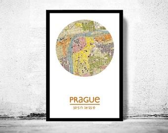PRAGUE - city poster - city map poster print