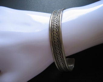 Vintage Sterling .925 Braided Bangle Bracelet