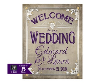 Printable Welcome Sign Poster   Boho wedding   Welcome to our Wedding   Wedding reception sign   Engagement party sign   DIY wedding signs