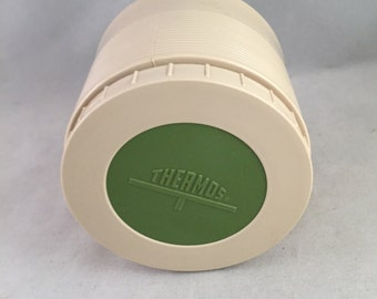 Vintage Thermos Insulated Jar Green Lid