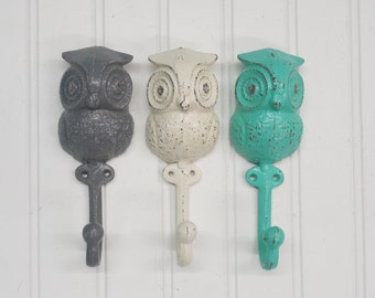 Wall Hook/Owl Hook/Nursery Wall Decor/Owls/Owl Hook/Bath Hook/Animal Hook/SSLID0116/Coat Hooks/Entryway/Nursery Hook/Wall Decor/Towel Hook
