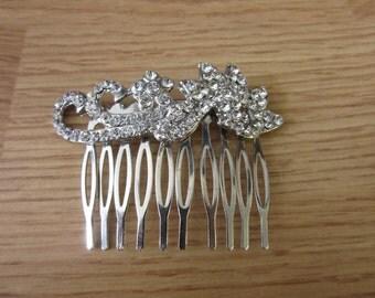 Vintage Bridal Rhinestone Hair Comb Pin