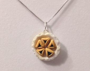 Jewish Charm - Polymer Clay Hamentashen