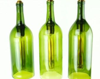 Upcycled Bordeaux Wine Bottle Pendant Light XL
