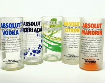 Upcycled Absolut Vodka Tumbler