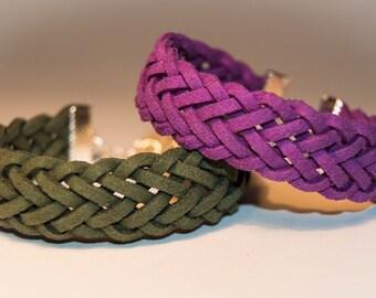 Double Braid Suede Bracelet