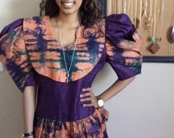 Vintage avant garde mini ethnic dress or tunic size sm or med