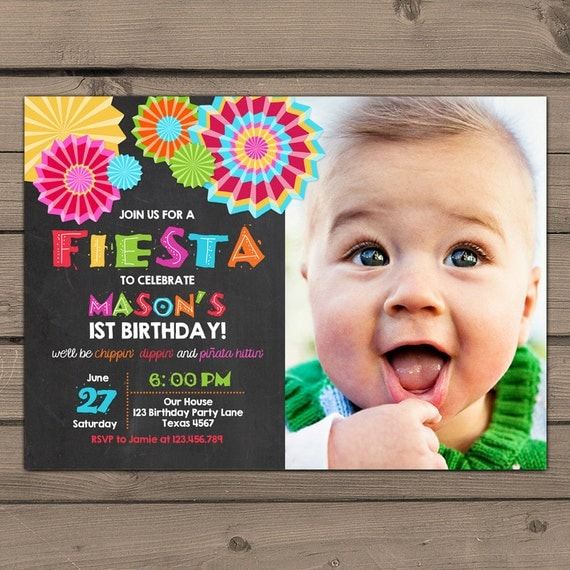 fiesta invitation fiesta birthday party fiesta birthday, Birthday invitations