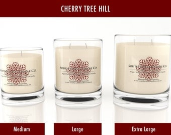 Cherry Vanilla Scented Soy Wax Jar Candle + Free Shipping