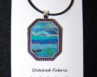 Stitched Fabric Pendant