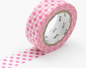Pink polka dot washi tape - 'mt dot pink' by mt masking tape