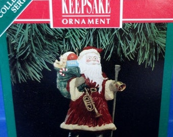 1991 Merry Olde Santa Hallmark Retired Series Ornament