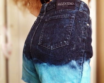 Customised 'Blue Moon' Vintage Valentino Shorts