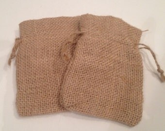 Mini burlap bags set,drawstring pull,soap holder,jewelry bag,coin purse,crafting