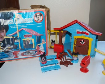 Mickey Mouse Clubhouse Weeble Wobble Hasbro Playset 1976