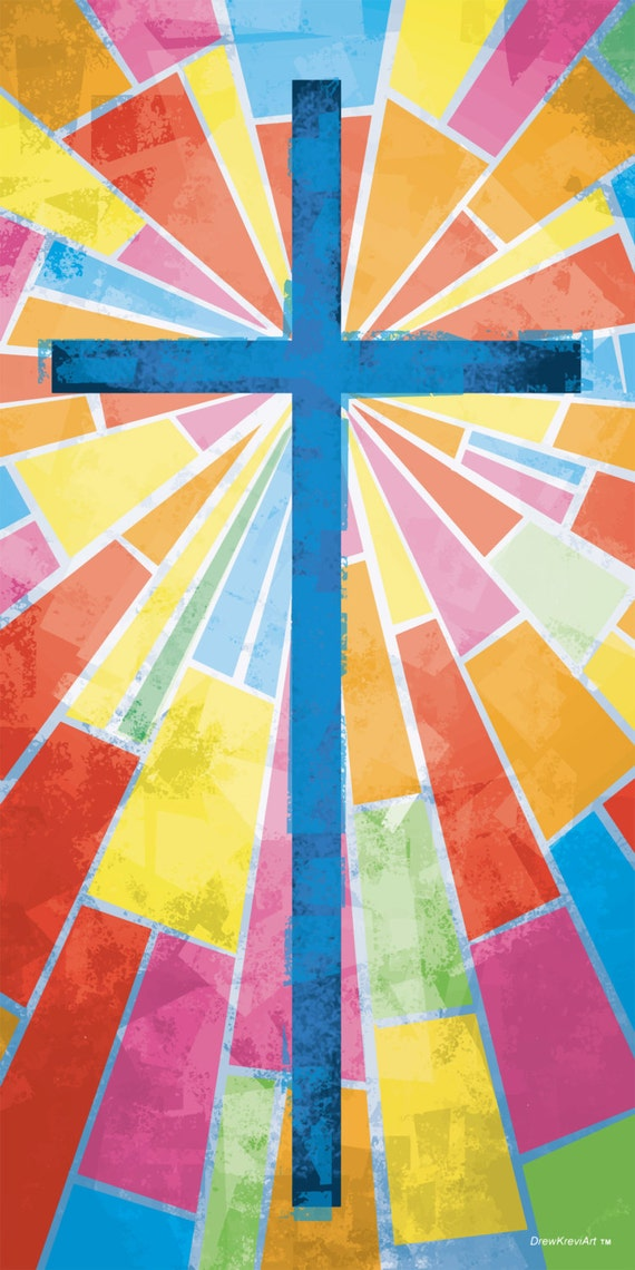 Christian Banners Church Banners Cross Banner Stained Glass