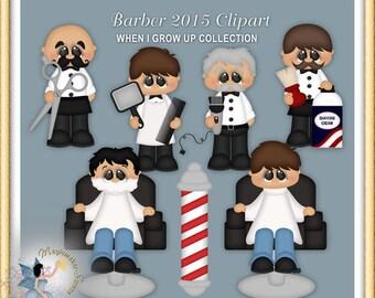 Barber Clipart, digital scrapbook