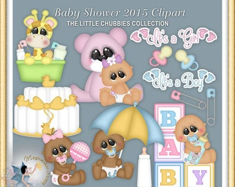 Baby Shower Clipart 2015, Chubbies