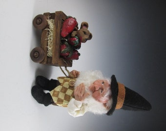 """OOAK Polymer Fairy Elf Doll Hand Sculpted """"Sherwood and the Hitchhiker""""l"""