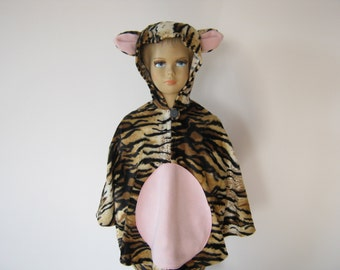 tiger halloween / carnival costume cape for toddlers