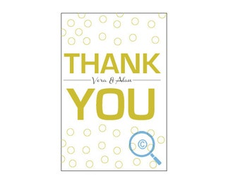 Type Font Thank You Postcard (wedding or personal)