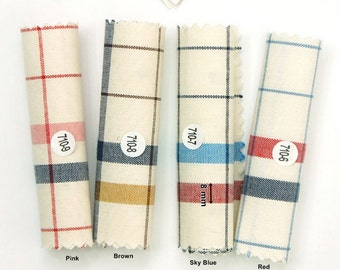 Cotton Fabric Big Plaid In 4 Colors By The Yard