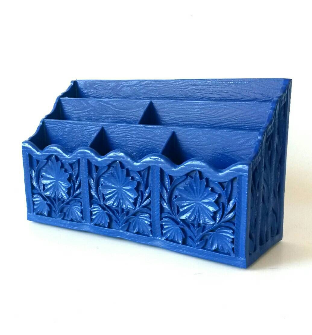 Office desk organizer mail holder sorter pen pencil storage - Desk organizer sorter ...