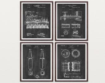 Beer - Inventions of Beer - Beer Patent - Beer Brewing - Beer Poster - Beer Art - Beer Wall Art - Beer Patent Print - Beer Brewing Poster