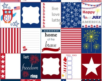 4th of JULY INDEPENDENCE DAY for use with Erin Condren Life Planner (vertical) - Digital - Instant Download