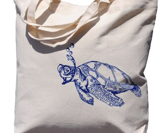 Bridesmaid Totes - Bridal Party Gifts - Gift Bags for Bridesmaid - Bridal Shower Gift for Bride - Bridal Registry - Turtle Canvas Beach Tote
