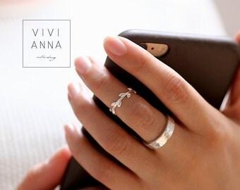 925 Silver Branch Ring | R091