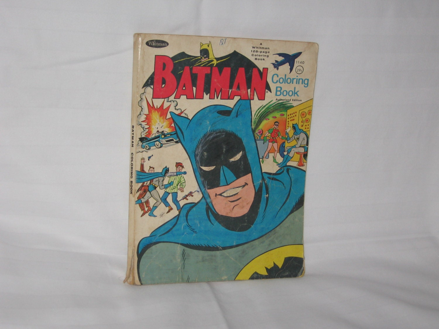 Vintage 1966 Whitman Batman Coloring Book Free Shipping In