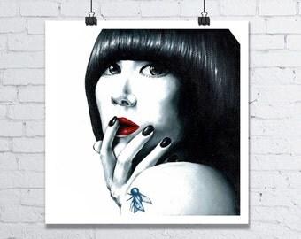 Karen O Art Print - 12 x 12 Inch Art Print