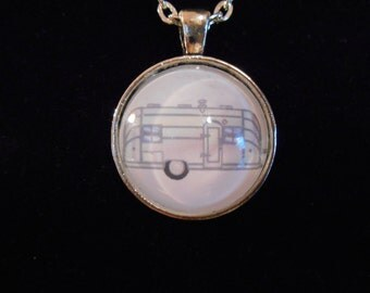 Vintage Airstream Trailel Pendant Necklace