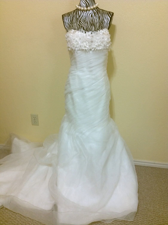 Vintage ivory shabby chic rustic wedding dress bridal by for Wedding dresses shabby chic