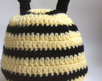 Crochet Bumblebee Hat