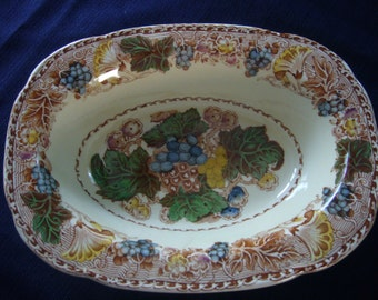 """1920's Woods Burslem, """"HYDE""""  Oval Serving Bowl, Made in England"""