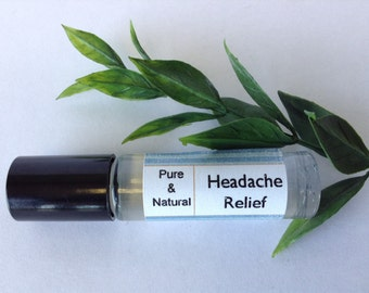Headache relief roll-on, pain relief roll on, essential pain relief.
