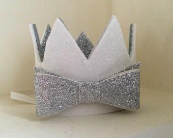Birthday crown/ Felt Crown/ birthday hat/girls 1st birthday crown