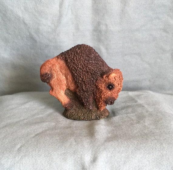 Stone Critter Littles United Design Corp 1990 Buffalo